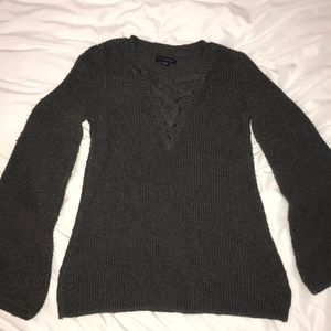 American eagle bell sleeve sweater